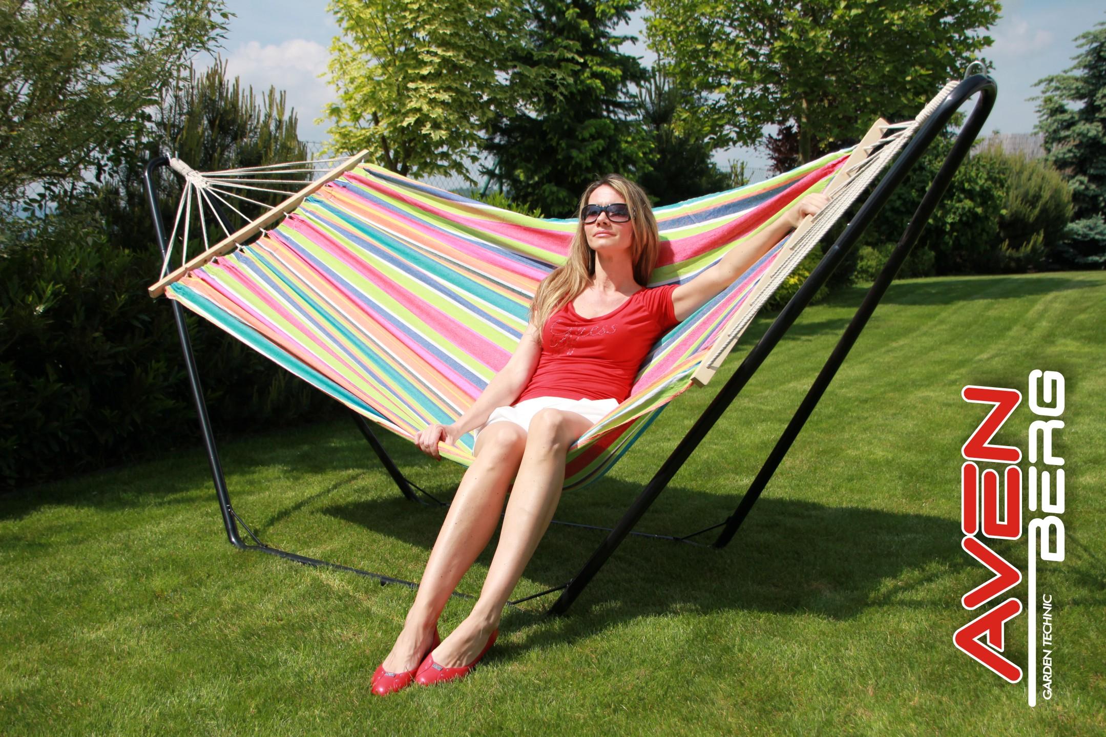 Relaxační lehátko pro 2 osoby STOJAN+HOUPACÍ SÍŤ AVENBERG Florida 31078