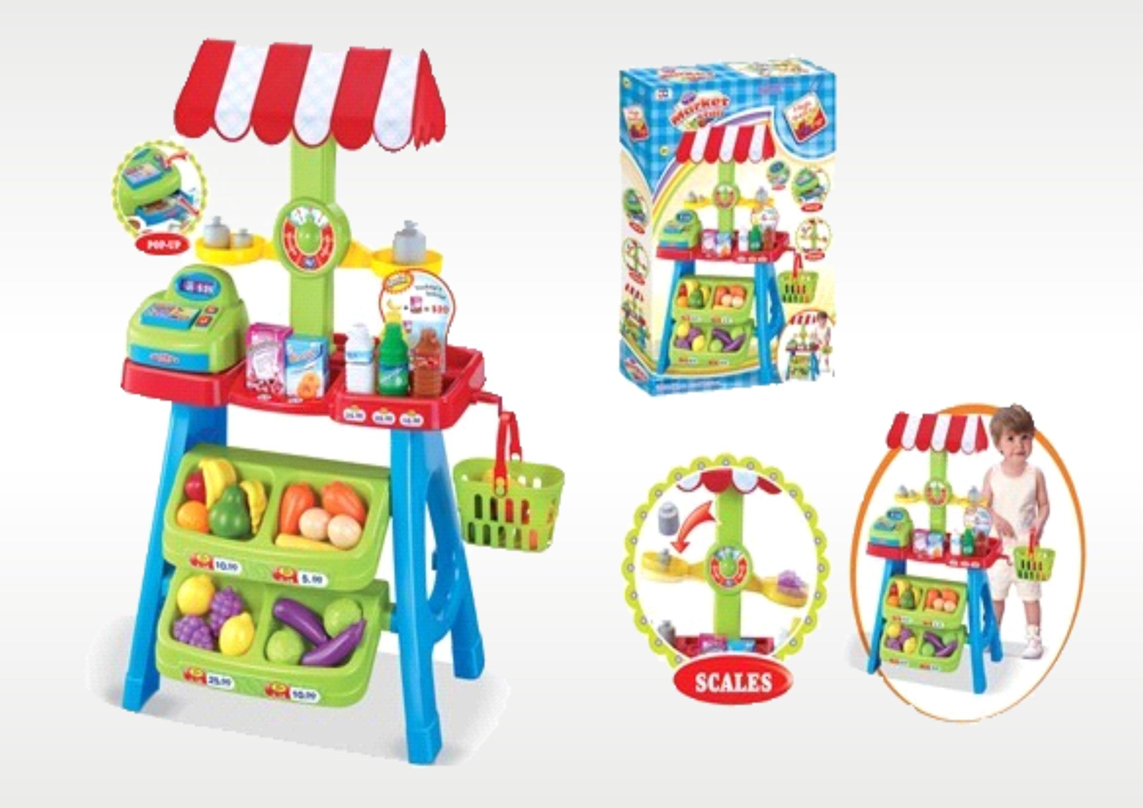 Hrací set - Dětský obchod s pokladnou, váhou a zbožím 008-52