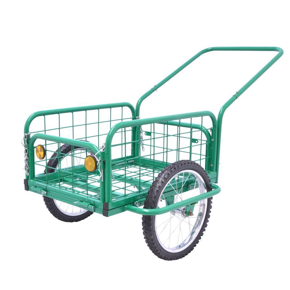Multifunkční vozík, ruční kárka - výklopné bočnice Hauser