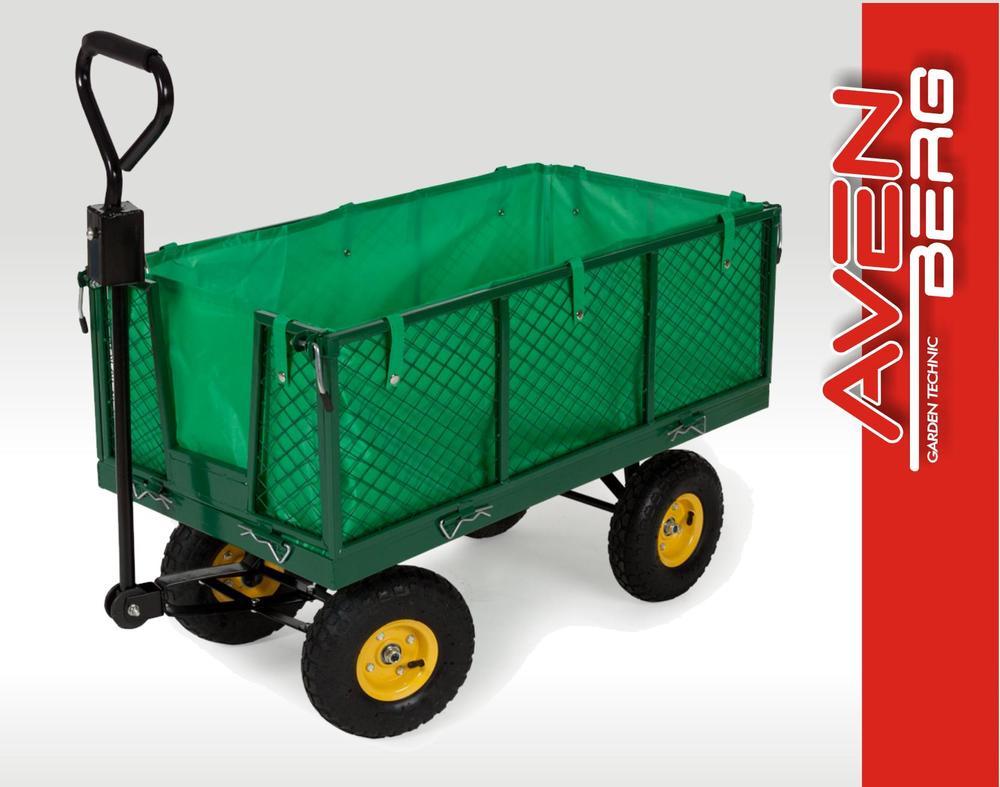 Velký zahradní vozík s výklopnými boky AVENBERG LECHNER