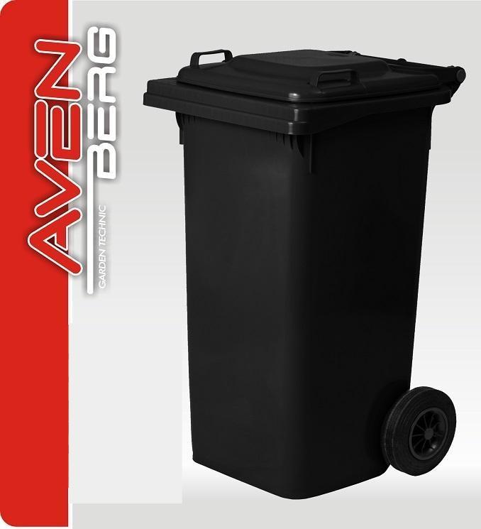 Plastová popelnice na kolečkách 120 L - šedočerná granitová