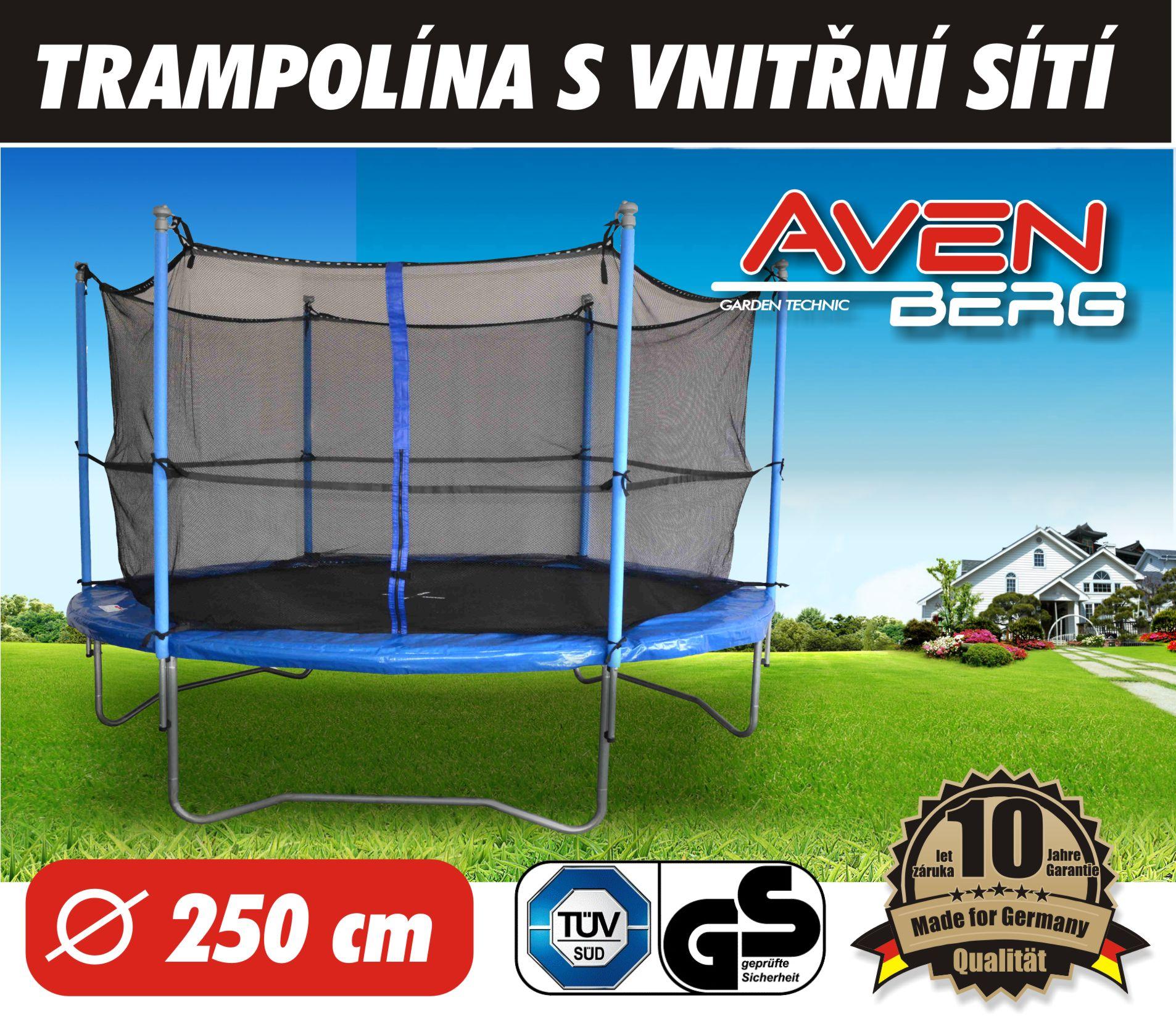 Trampolína s vnitřní sítí AVENBERG JUMPER 250 cm