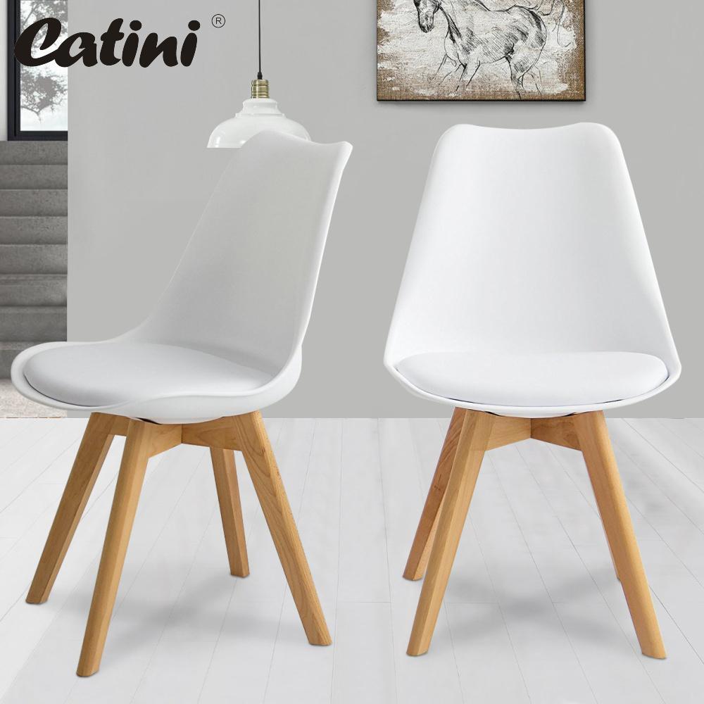 2ks Jídelní židle NORDICA - bílá