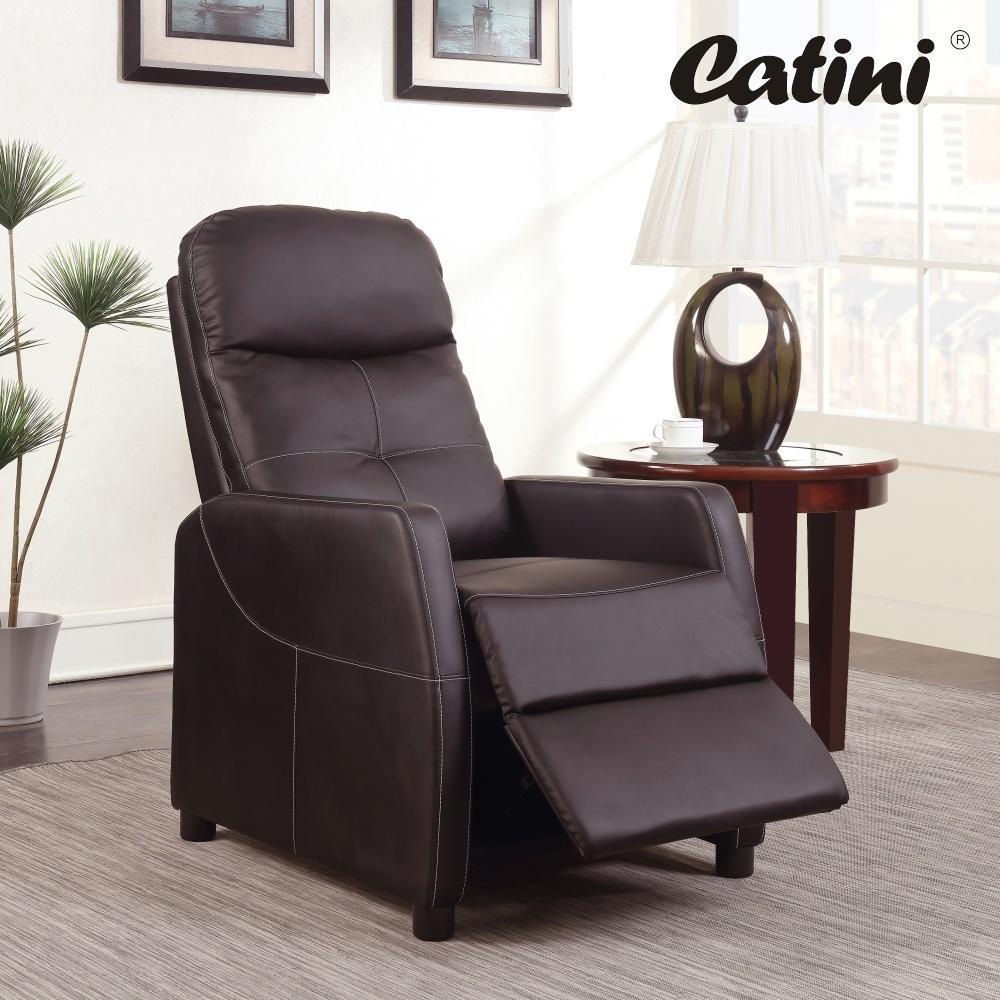 Polohovatelné TV relaxační křeslo Catini Admiral - Hnědá