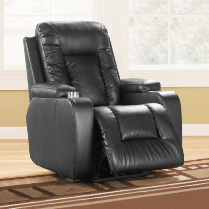 Relaxační polohovatelné televizní křeslo Catini IMPERIAL Černá