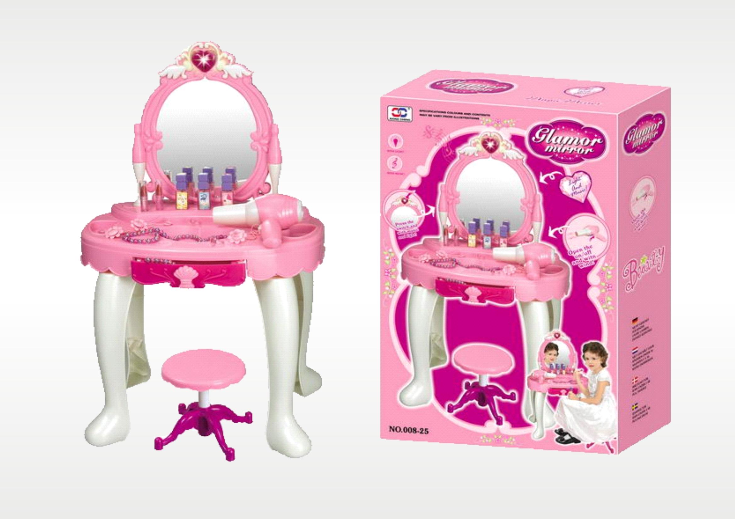 Hrací set - Kosmetický stolek s fénem a zrcadlem 008-25